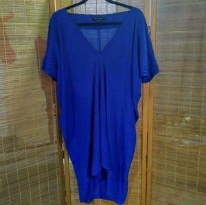 Olive Olivia Cobalt Silk Tunic